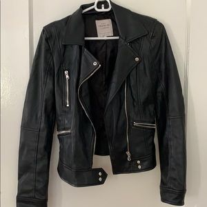 Black Zara leather jacket